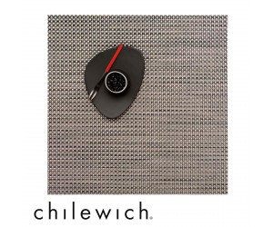 Chilewich Set Quadratisch Basketweave titanium