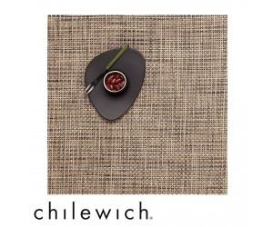 Chilewich Set Quadratisch Basketweave bark