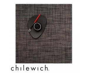 Chilewich Set Quadratisch Basketweave carbon