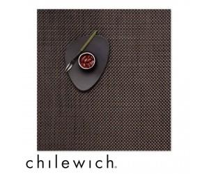 Chilewich Set Quadratisch Basketweave chestnut