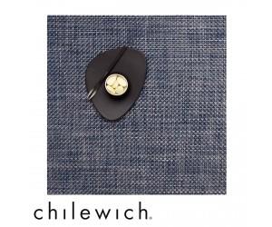 Chilewich Set Quadratisch Basketweave denim