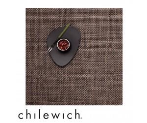 Chilewich Set Quadratisch Basketweave earth