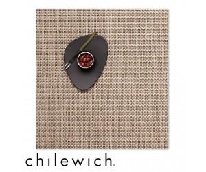 Chilewich Set Quadratisch Basketweave latte