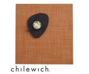 Chilewich Set Quadratisch Basketweave papaya