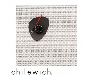 Chilewich Set Quadratisch Basketweave white