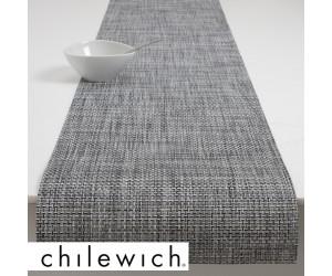 Chilewich Läufer Basketweave weiß/schwarz