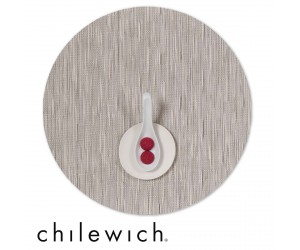 Chilewich Set Rund Bamboo chalk