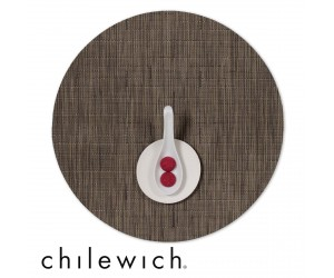 Chilewich Set Rund Bamboo charcoal