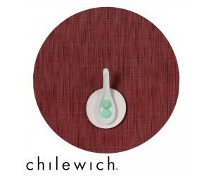Chilewich Set Rund Bamboo cranberry