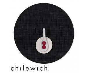 Chilewich Set Rund Bamboo jet black