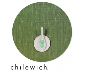 Chilewich Set Rund Bamboo lawn green