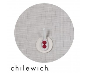 Chilewich Set Rund Bamboo white