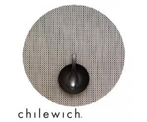 Chilewich Set Rund Basketweave aluminium