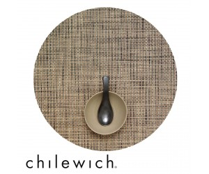 Chilewich Set Rund Basketweave bark