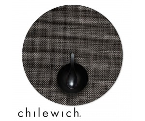 Chilewich Set Rund Basketweave carbon