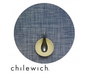 Chilewich Set Rund Basketweave denim
