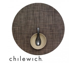 Chilewich Set Rund Basketweave earth