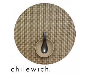 Chilewich Set Rund Basketweave new gold