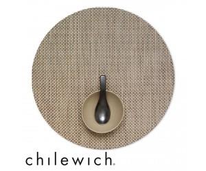 Chilewich Set Rund Basketweave latte