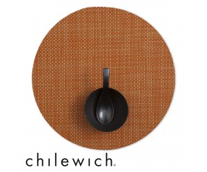 Chilewich Set Rund Basketweave papaya
