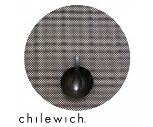 Chilewich Set Rund Basketweave titanium