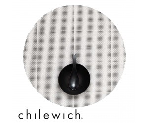 Chilewich Set Rund Basketweave weiß