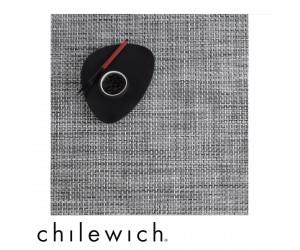 Chilewich Set Quadratisch Basketweave white / black