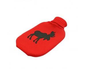 Lenz und Leif Wärmflasche Elk rot/dunkelgrün