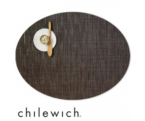 Chilewich Oval Bamboo chocolate