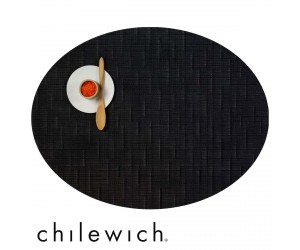 Chilewich Oval Bamboo jet black