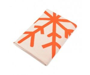 Lenz und Leif Decke Snowflake weiß/orange