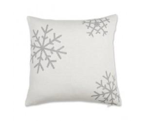 Lenz und Leif Dekokissen Snowflake weiß/grau