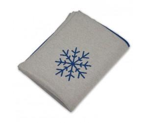 Lenz und Leif Decke Snowflakes grau/blau