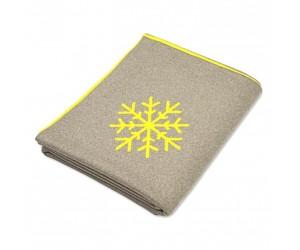 Lenz und Leif Decke Snowflakes beige/gelb