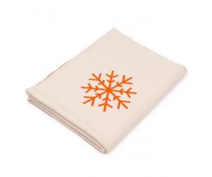 Lenz und Leif Decke Snowflakes weiß/orange