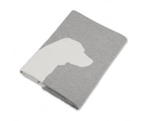Lenz und Leif Decke Dog grau/weiß