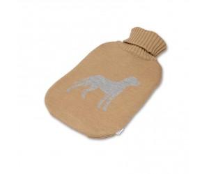 Lenz und Leif Wärmflasche Dog camel/grau