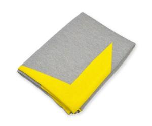 Lenz und Leif Decke Star grau/gelb