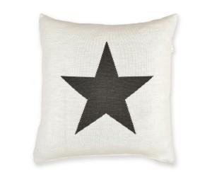 Lenz und Leif Dekokissen Star weiß/dunkelgrau