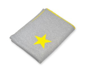 Lenz und Leif Decke Stars grau/gelb