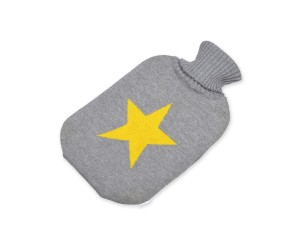 Lenz und Leif Wärmflasche Star grau/gelb