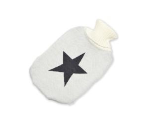 Lenz und Leif Wärmflasche Star weiß/dunkelgrau