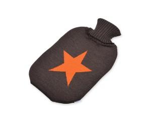 Lenz und Leif Wärmflasche Star baun/orange