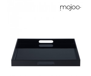 Mojoo Lacktablett quadratisch large mit Griff black