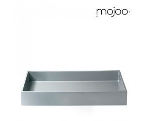 Mojoo Lacktablett für Papierablage cool grey