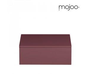 Mojoo Lackbox mit Deckel quadratisch small wild ginger