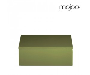 Mojoo Lackbox mit Deckel quadratisch small moss green