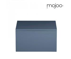 Mojoo Lackbox mit Deckel quadratisch medium blue indigo