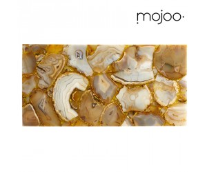 Mojoo Agate-Tafel medium gold