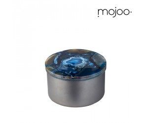 Mojoo Agate-Box rund small blue